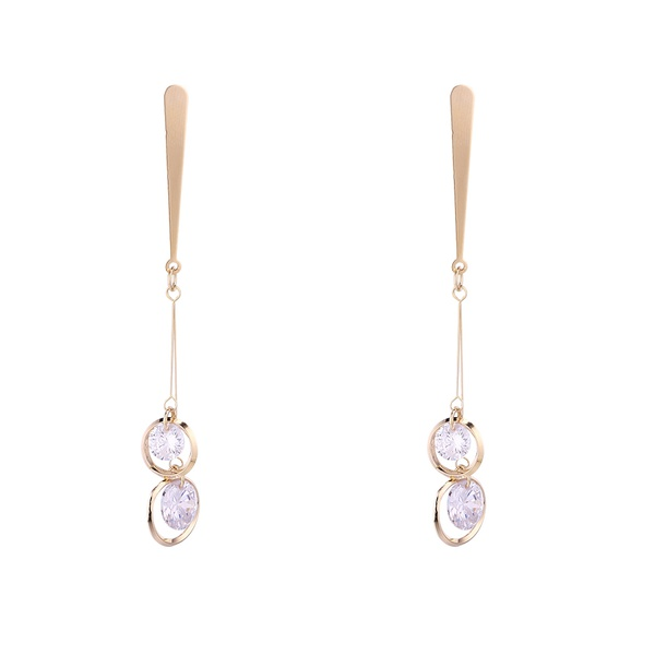 Korean version of the real alloy creative temperament lady S925 alloy needle earrings (14K) NHNPS6138