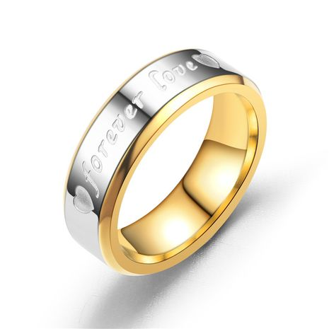 Titanium&Stainless Steel Fashion Sweetheart Ring  (Men 6MM-6)  Fine Jewelry NHTP0077-Men-6MM-6's discount tags
