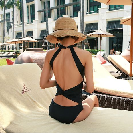 Cotton Korea  Bikini  (black-M)  Swimwear NHHL1396-black-M's discount tags