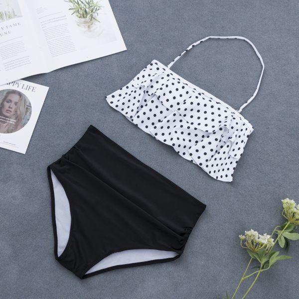 Polyester Fashion  Bikini  (White-S)  Swimwear NHHL1546-White-S