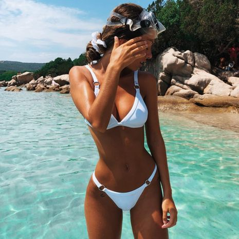 Cotton Fashion  Bikini  (9060 white-S)  Swimwear NHHL1624-9060-white-S's discount tags