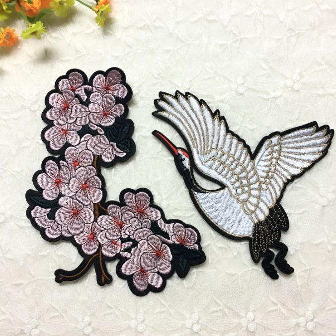 Alloy Fashion  jewelry accessory  (Set of flowers and cranes)  Fashion Accessories NHLT0056-Set-of-flowers-and-cranes