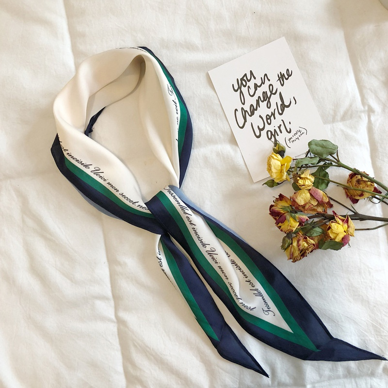 Alloy Korea  scarf  (L01 Navy + Dark Green)  Scarves NHTZ0408-L01-Navy-Dark-Green
