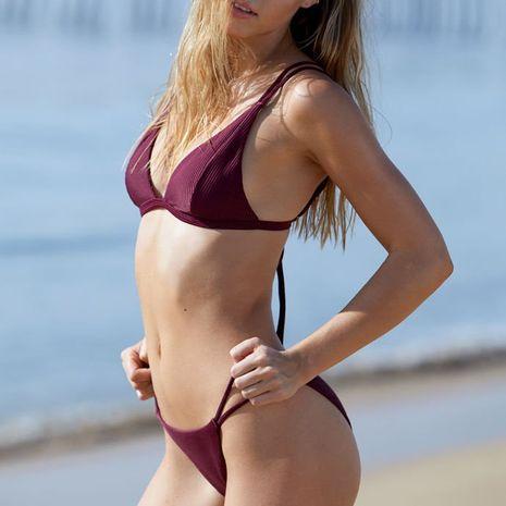 Cotton Fashion  Bikini  (Wine Red 084-S)  Swimwear NHHL1744-Wine-Red-084-S's discount tags