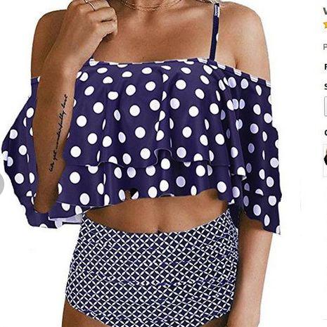 Bikini Fashion en coton (Blue dot plus strip-S) Maillots de bain NHHL1783-Blue-dot-plus-strip-S's discount tags