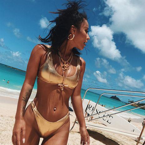 Polyester Fashion Bikini (Split alliage couleur-S) Maillots de bain NHHL1791-Split-alliage-couleur-S's discount tags