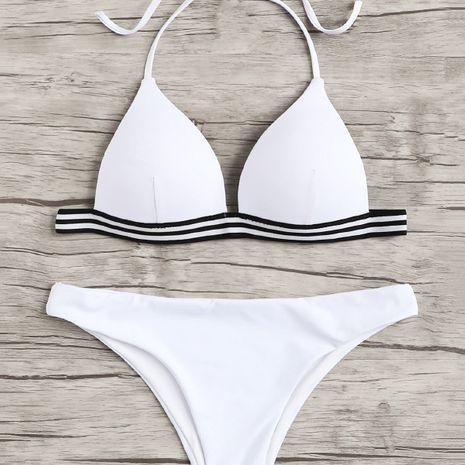 Cotton Fashion  Bikini  (White-S)  Swimwear NHHL1792-White-S's discount tags