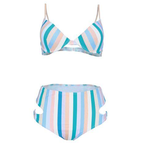 Polyester Fashion  Bikini  (1901-Color Bar-S)  Swimwear NHHL1827-1901-Color-Bar-S's discount tags