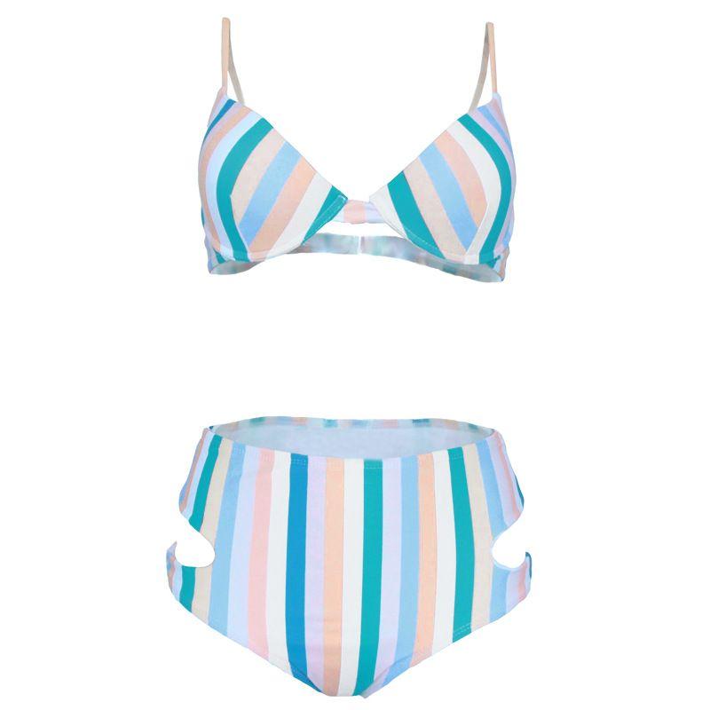 Polyester Fashion  Bikini  (1901-Color Bar-S)  Swimwear NHHL1827-1901-Color-Bar-S