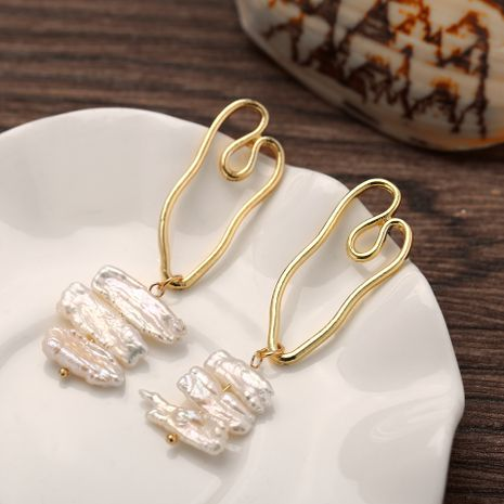 Alloy Fashion Geometric earring  (Alloy + white GBP07-04)  Fashion Jewelry NHPJ0354-Alloy-white-GBP07-04's discount tags