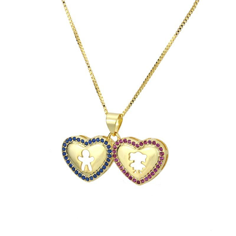 Copper Fashion Sweetheart necklace  Alloy plating  Fine Jewelry NHBP0410Alloyplating
