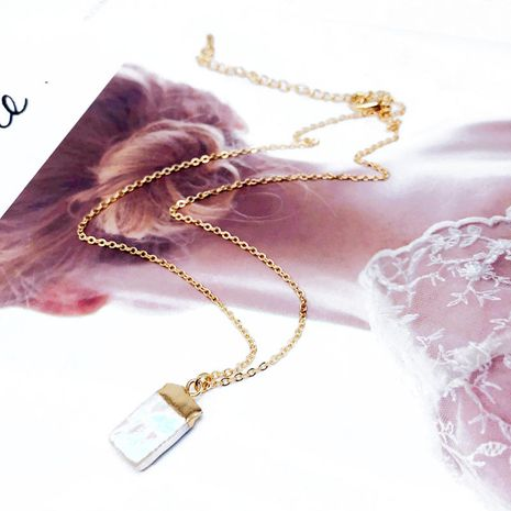 Alloy Fashion  necklace  (Square bag of alloy)  Fashion Jewelry NHOM1521-Square-bag-of-alloy's discount tags