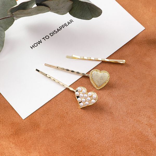 Alloy Korea Geometric Hair accessories  (A love triangle set)  Fashion Jewelry NHMS2308-A-love-triangle-set