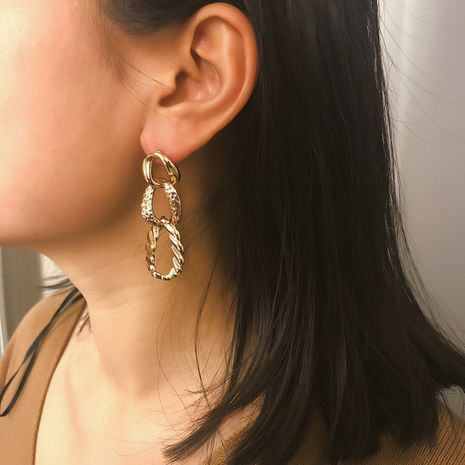 Alloy Simple Geometric earring  (Alloy 1360)  Fashion Jewelry NHXR2777-Alloy-1360's discount tags