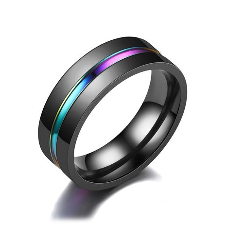 Titanium&Stainless Steel Fashion Geometric Ring  (8MM Room Q-7)  Fine Jewelry NHTP0079-8MM-Room-Q-7's discount tags