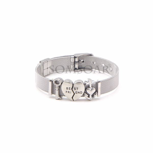 Titanium&Stainless Steel Simple Geometric bracelet  (Steel bracelet)  Fine Jewelry NHSX0437-Steel-bracelet