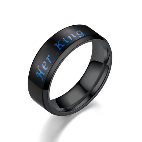 Titanium&Stainless Steel Vintage Geometric Ring  (6MM Her King-5)  Fine Jewelry NHTP0080-6MM-Her-King-5's discount tags