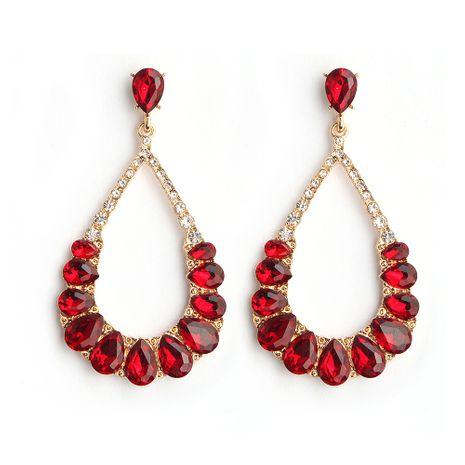 Pendiente geométrico de moda de aleación (rojo) Joyería de moda NHHS0672-rojo's discount tags
