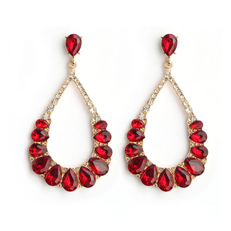 Alloy Fashion Geometric earring  (red)  Fashion Jewelry NHHS0672-red