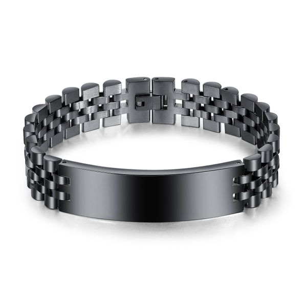 Titanium&Stainless Steel Fashion Geometric bracelet  (Steel color)  Fine Jewelry NHOP3186-Steel-color