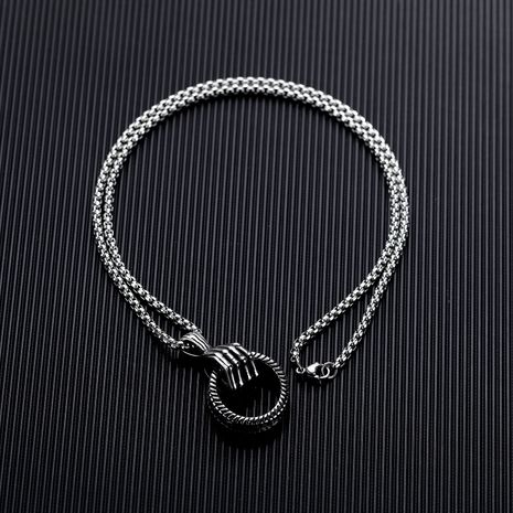 Titanium&Stainless Steel Fashion Geometric necklace  (Photo Color)  Fine Jewelry NHOP3196-Photo-Color's discount tags