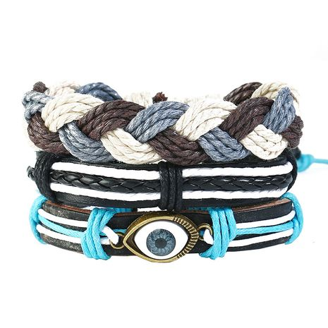 Leather Fashion Geometric bracelet  (Three-piece suit)  Fashion Jewelry NHPK2249-Three-piece-suit's discount tags