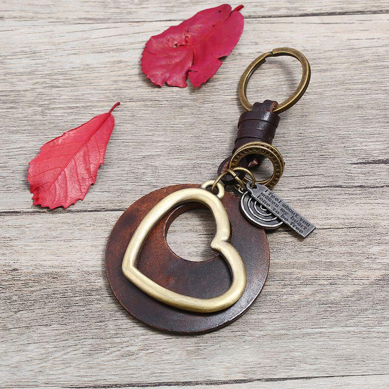 Leather Fashion  key chain  (Photo Color)  Fashion Accessories NHPK2252-Photo-Color