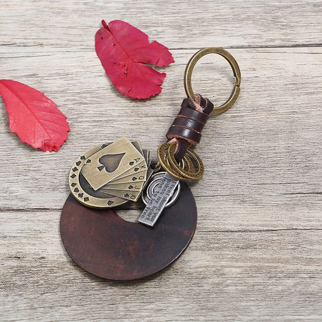 Leather Fashion  key chain  (Photo Color)  Fashion Accessories NHPK2253-Photo-Color's discount tags