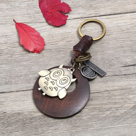 Leather Fashion  key chain  (Photo Color)  Fashion Accessories NHPK2254-Photo-Color's discount tags