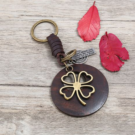 Leather Fashion  key chain  (Photo Color)  Fashion Accessories NHPK2255-Photo-Color's discount tags