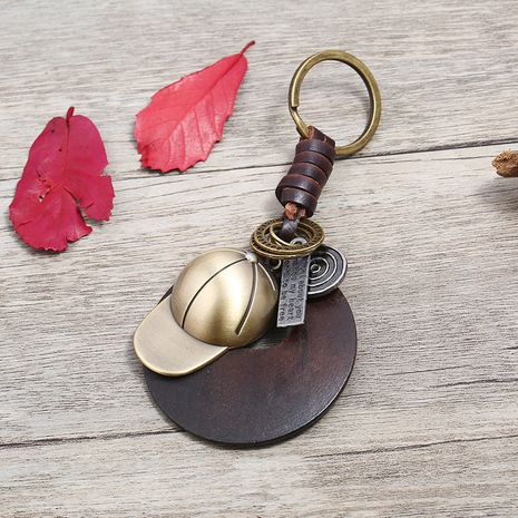 Leather Fashion  key chain  (Photo Color)  Fashion Accessories NHPK2256-Photo-Color's discount tags