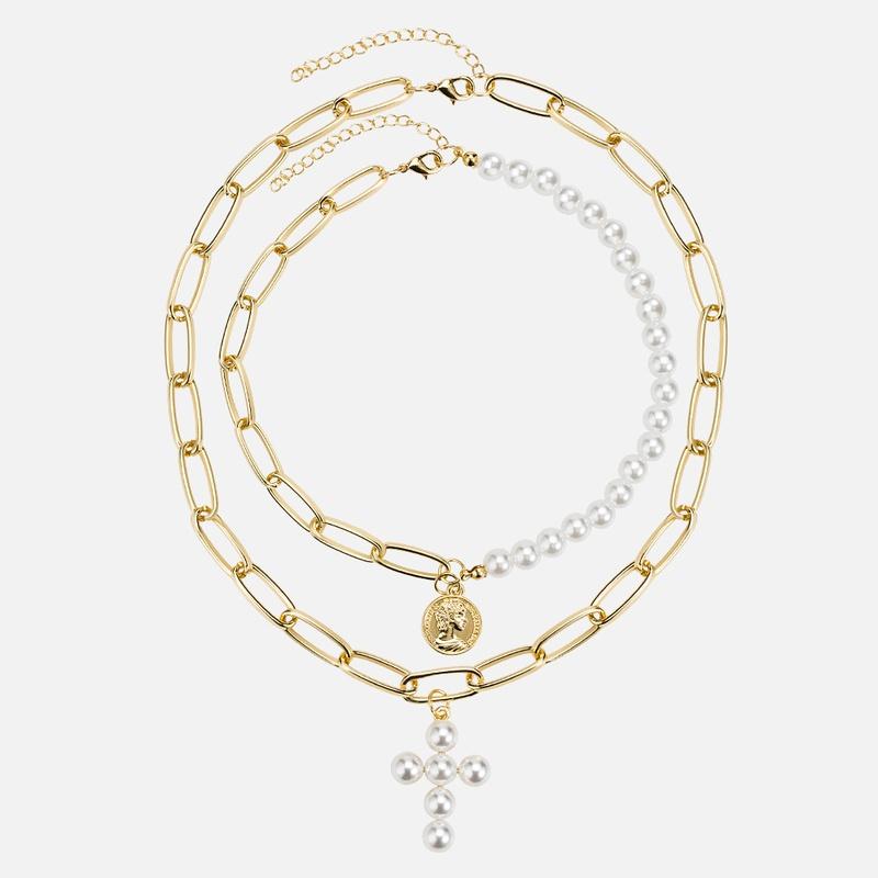 Alloy Fashion Geometric necklace  (N002818 alloy)  Fashion Jewelry NHWF3759-N002818-alloy