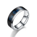 TitaniumStainless Steel Vintage Geometric Ring  6MM Her King5  Fine Jewelry NHTP00806MMHerKing5