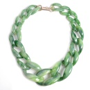 Alloy Fashion Flowers necklace  green  Fashion Jewelry NHWF3766green