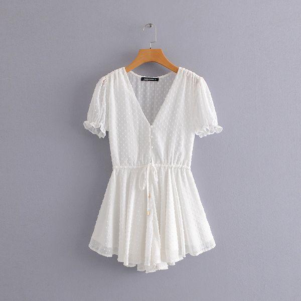 Polyester Fashion  skirt  (White-S)   NHDS0689-White-S