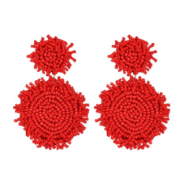 Alloy Fashion Tassel earring  (red)  Fashion Jewelry NHJJ5656-red