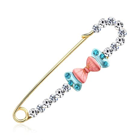 Alloy Korea Bows brooch  (AI093-A)  Fashion Jewelry NHDR3212-AI093-A's discount tags