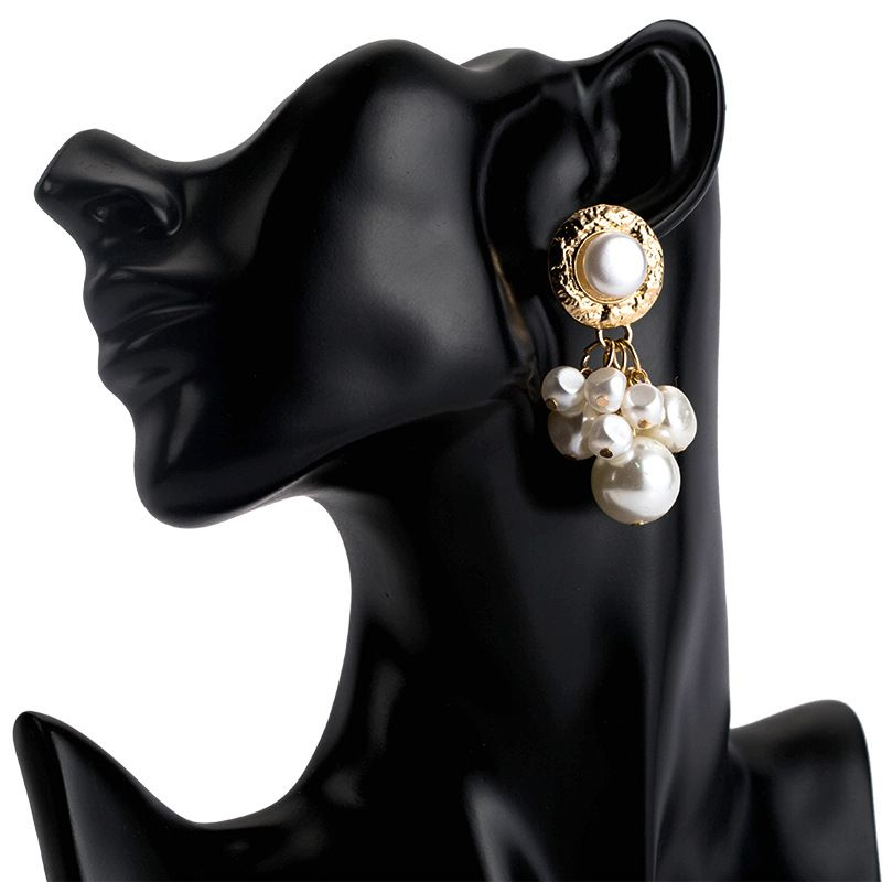 Beads Fashion Geometric earring  (Alloy)  Fashion Jewelry NHJE2702-Alloy