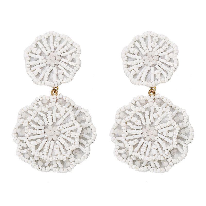 Acrylic Vintage bolso cesta earring  (white)  Fashion Jewelry NHJQ11338-white