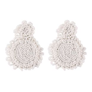 Plastic Fashion Geometric earring  (white)  Fashion Jewelry NHJQ11339-white's discount tags