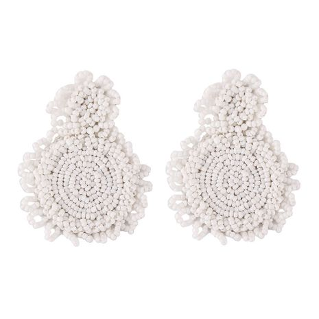 Plastic Fashion Geometric earring  (white)  Fashion Jewelry NHJQ11339-white's discount tags
