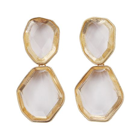 Imitated crystal&CZ Fashion Geometric earring  (white)  Fashion Jewelry NHJQ11340-white's discount tags