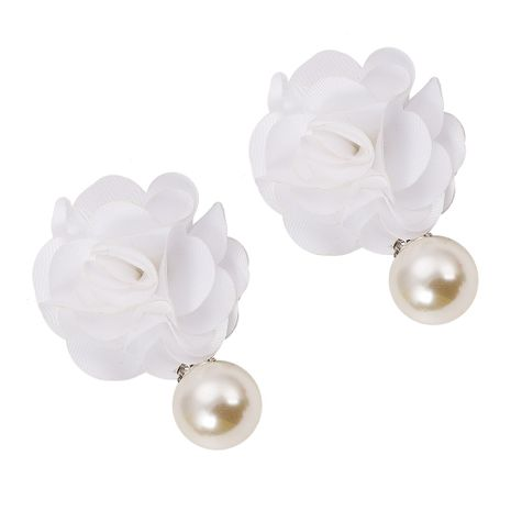 Alloy Korea Flowers earring  (white)  Fashion Jewelry NHJQ11350-white's discount tags