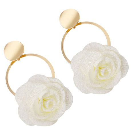 Alloy Fashion Flowers earring  (white)  Fashion Jewelry NHJQ11351-white's discount tags