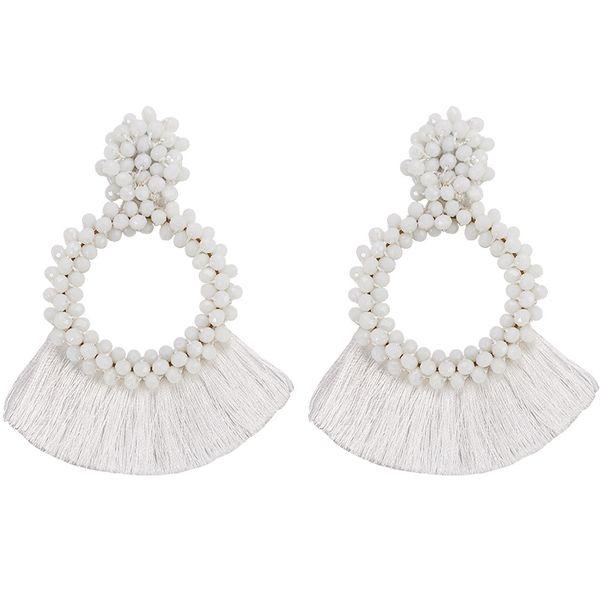 Acrylic Fashion bolso cesta earring  (white)  Fashion Jewelry NHJQ11357-white