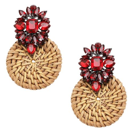 Imitated crystal&CZ Fashion bolso cesta earring  (Photo Color)  Fashion Jewelry NHJQ11359-Photo-Color's discount tags