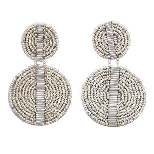 Beads Fashion Tassel earring  (white)  Fashion Jewelry NHJQ11364-white's discount tags