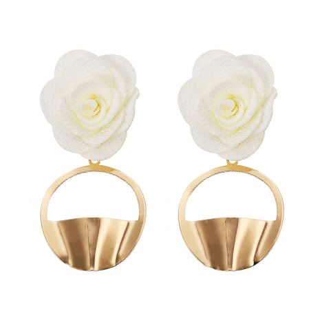 Alloy Fashion Flowers earring  (white)  Fashion Jewelry NHJQ11365-white's discount tags