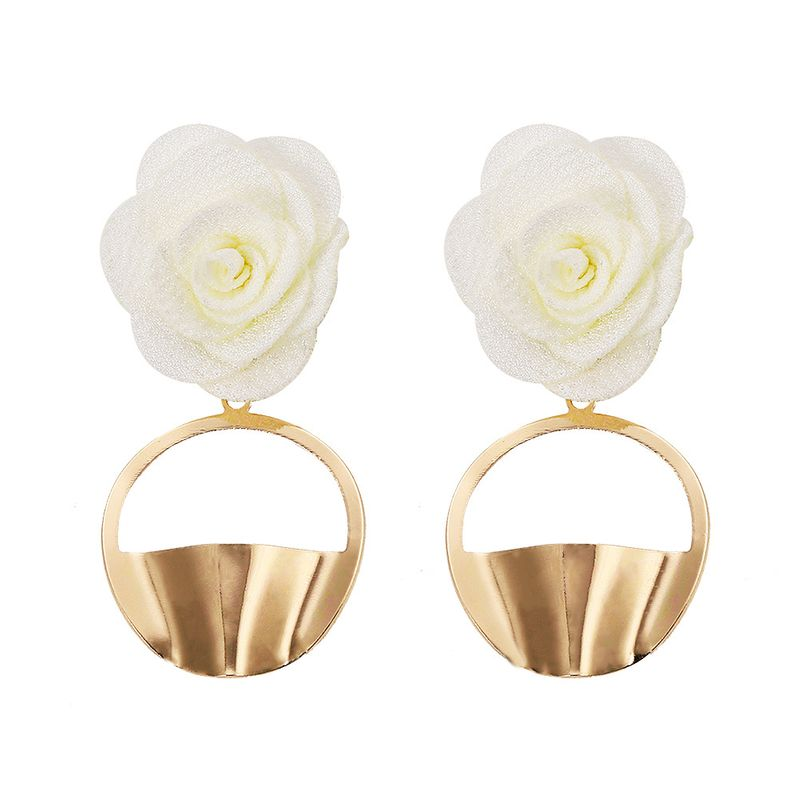 Alloy Fashion Flowers earring  white  Fashion Jewelry NHJQ11365white