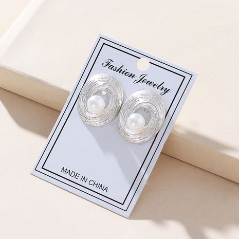 Alloy Fashion Geometric earring  (white)  Fashion Jewelry NHNZ1320-white's discount tags